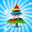 Colorful 3D Christmas Tree — Vettoriale Stock #8121168