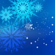 Beautiful Blue Christmas Background - Grafika wektorowa