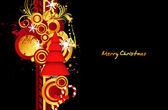 Christmas Tree Decor Background — Vecteur