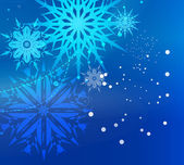 Beautiful Blue Christmas Background — Stock Vector