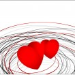 Valentine Hearts Scribble Background — Stock Vector
