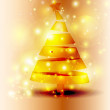 Stock Vector: Golden Christmas Tree Sparkle Background