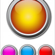 Colorful Vector Buttons — Stock Vector