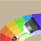 Vector Brush Colorful Background — Cтоковый вектор
