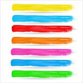 Colorful Brush Strokes — Stock Vector