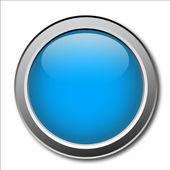 Blue Metallic Button — Vector de stock