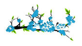 Vector Illustration of Flower Branch — Stock Vector