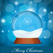 Vector Christmas Glass Globe — Stock Vector