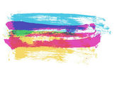 Colorful Strokes — Stock Vector