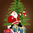 Royalty-Free Stock Vector Image: Christmas Tree with Santa Gifts