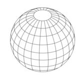 Wireframe Globe — Stock Vector