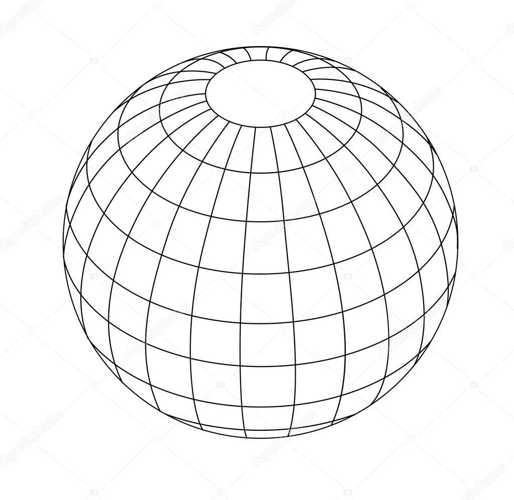 globe vector lines