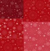 Conjunto de plano de fundo decorativo de flocos de neve — Vetorial Stock