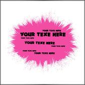 Dirty Pink Splatter Banner — Stock Vector