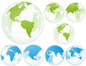Set of Globe Earth — Stock Vector