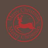 Vintage Grunge Christmas Stamp — Stock Vector