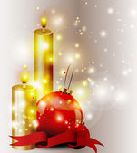 Christmas Objects on Decorative Background — Cтоковый вектор