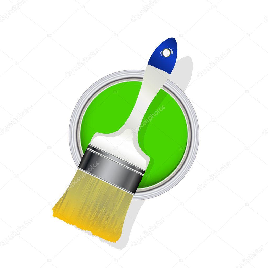 paint bucket and brush - photo #24