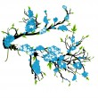 Blue Flower Autumn Branch — Stockvektor #8286703