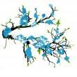 Blue Flower Autumn Branch — Stock Vector