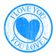 Royalty-Free Stock Vector Image: Blue Valentine Stamp
