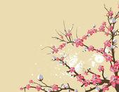 Branche florifère Vector — Vecteur