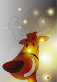 счастливый оленей искра фон — Cтоковый вектор