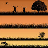 Urban Nature Banners — Stock Vector