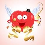 Vector Heart Cupid — Stock Vector