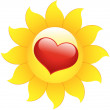Heart Flower Icon — Stockvektor #8385535