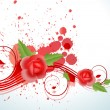 Royalty-Free Stock Vector Image: Vector Rose Background