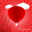 Red Air Balloon Background - Stock vektor