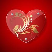 Marco de corazón vector — Vector de stock