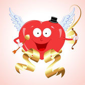 Vector Heart Cupid — Stock Vector