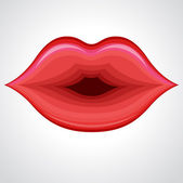 Lip Kiss — Stock Vector