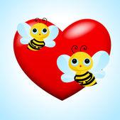 Vector Bee Couple — Stock Vector