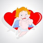 Cupid Heart — Stock Vector