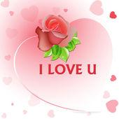 Valentine Rose Background — Stock Vector