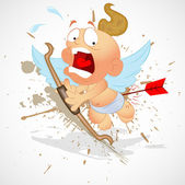 Screaming Cupid — Stock Vector