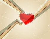 Serce starodawny tło — Wektor stockowy