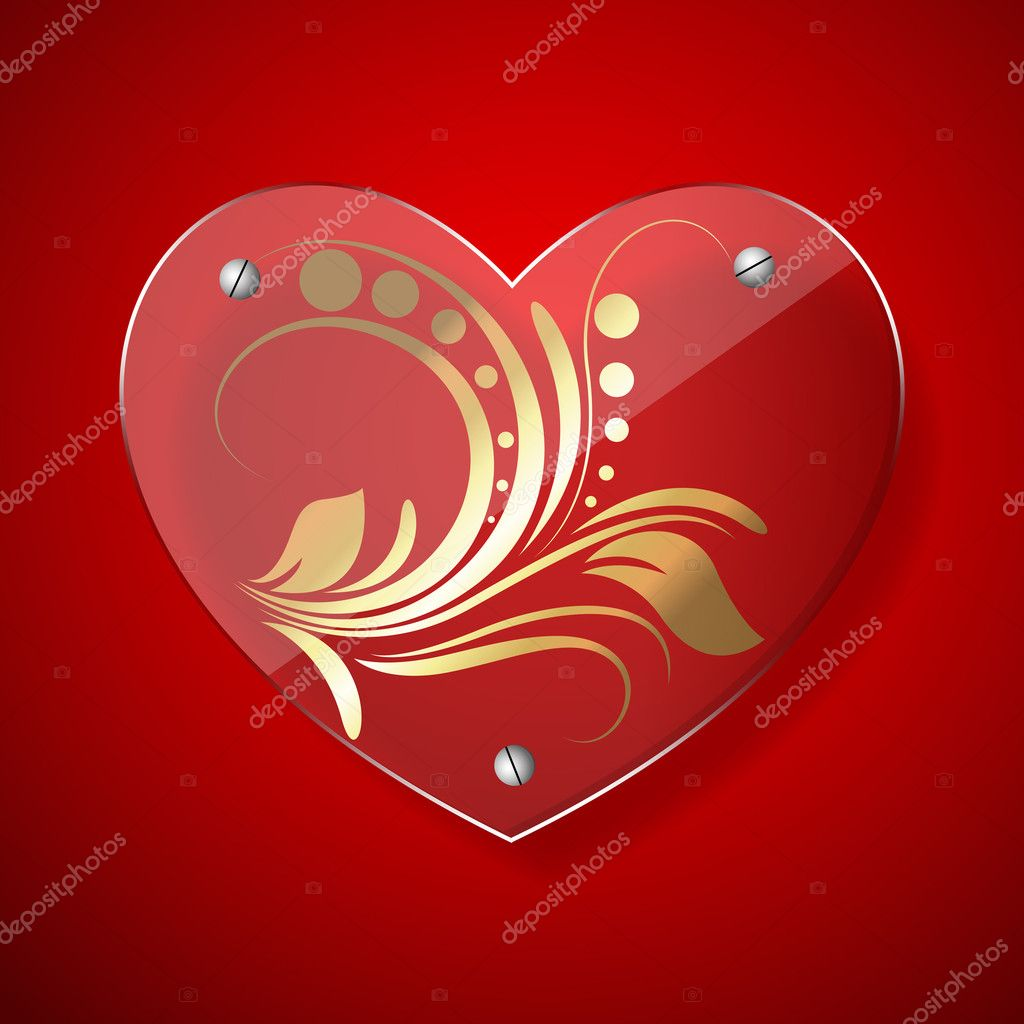 Creative Abstract Decor Design of Vector Heart Frame — Stock Vector #8385326