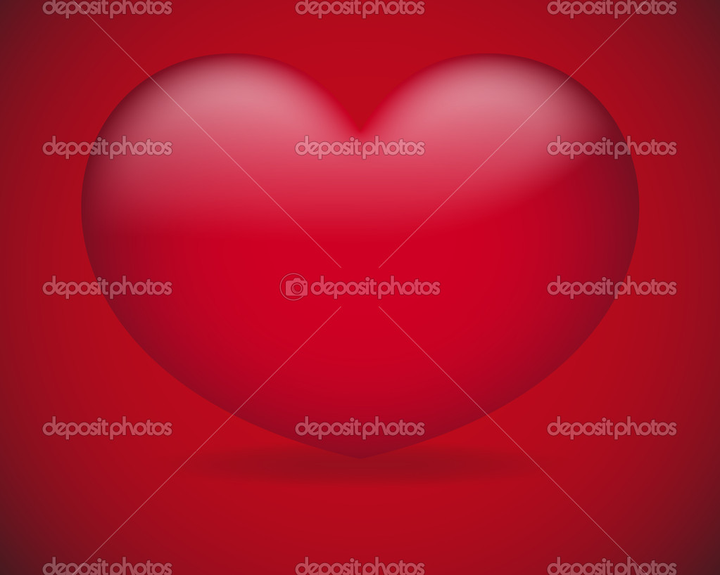 Creative Abstract Conceptual Design of Red Heart Vector Background — Stock Vector #8385494
