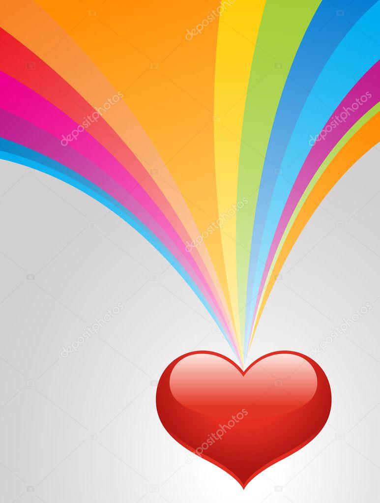 rainbow heart background � stock vector 169 baavli 8385512