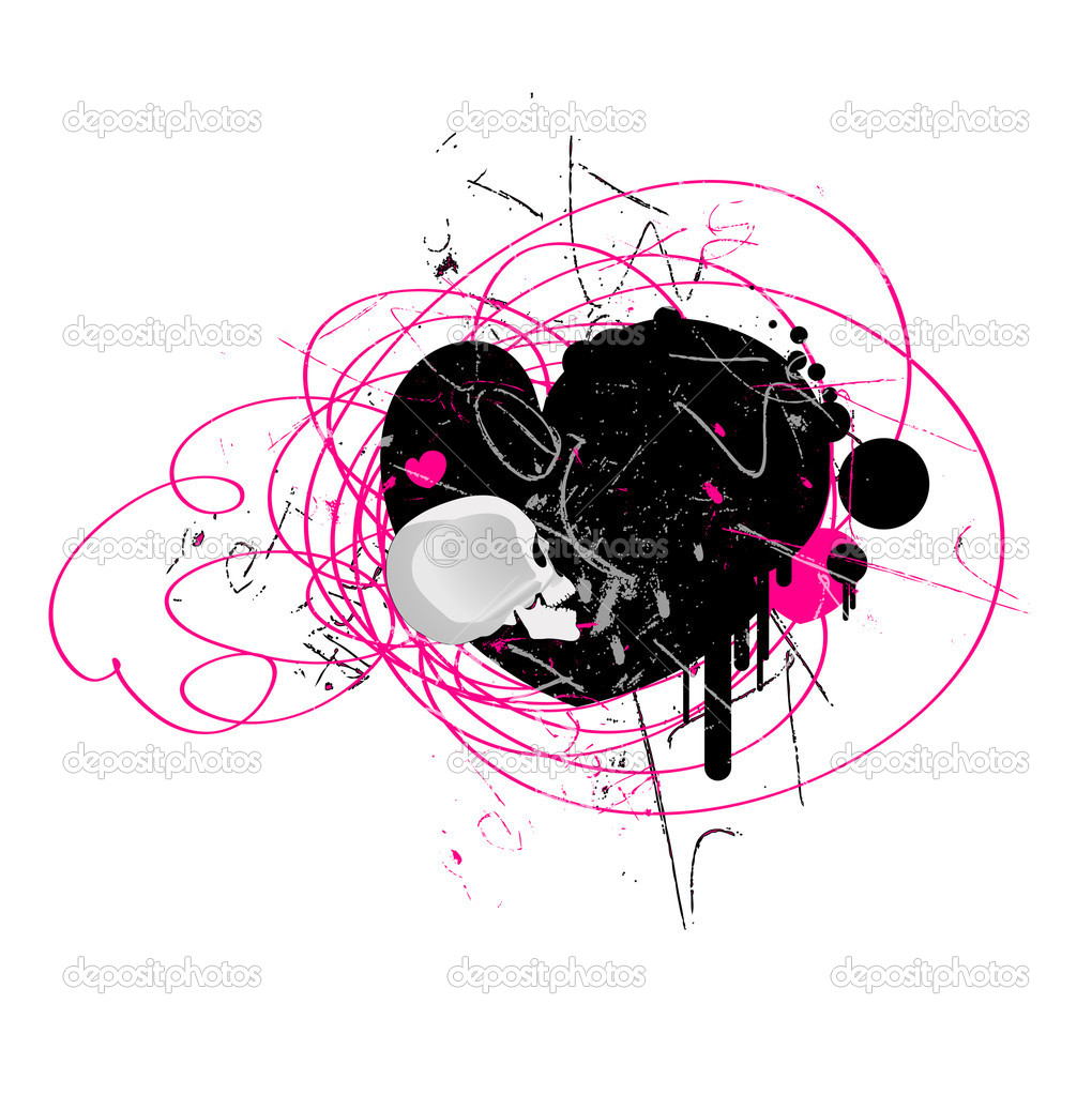 Conceptual Abstract Decor Design of Grunge Valentine Background — Stock Vector #8385624