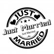 Just Married Stamp — Stock Vector #8427407
