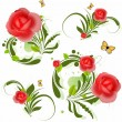 Vector Red Roses — Stock Vector
