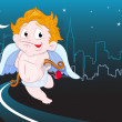 Flying Cupid — Stock Vector
