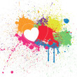 Colorful Heart Splash Background — Stock Vector