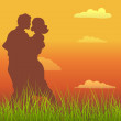 Romantic Couple — Stock Vector