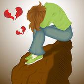 Sad Lover — Stock Vector